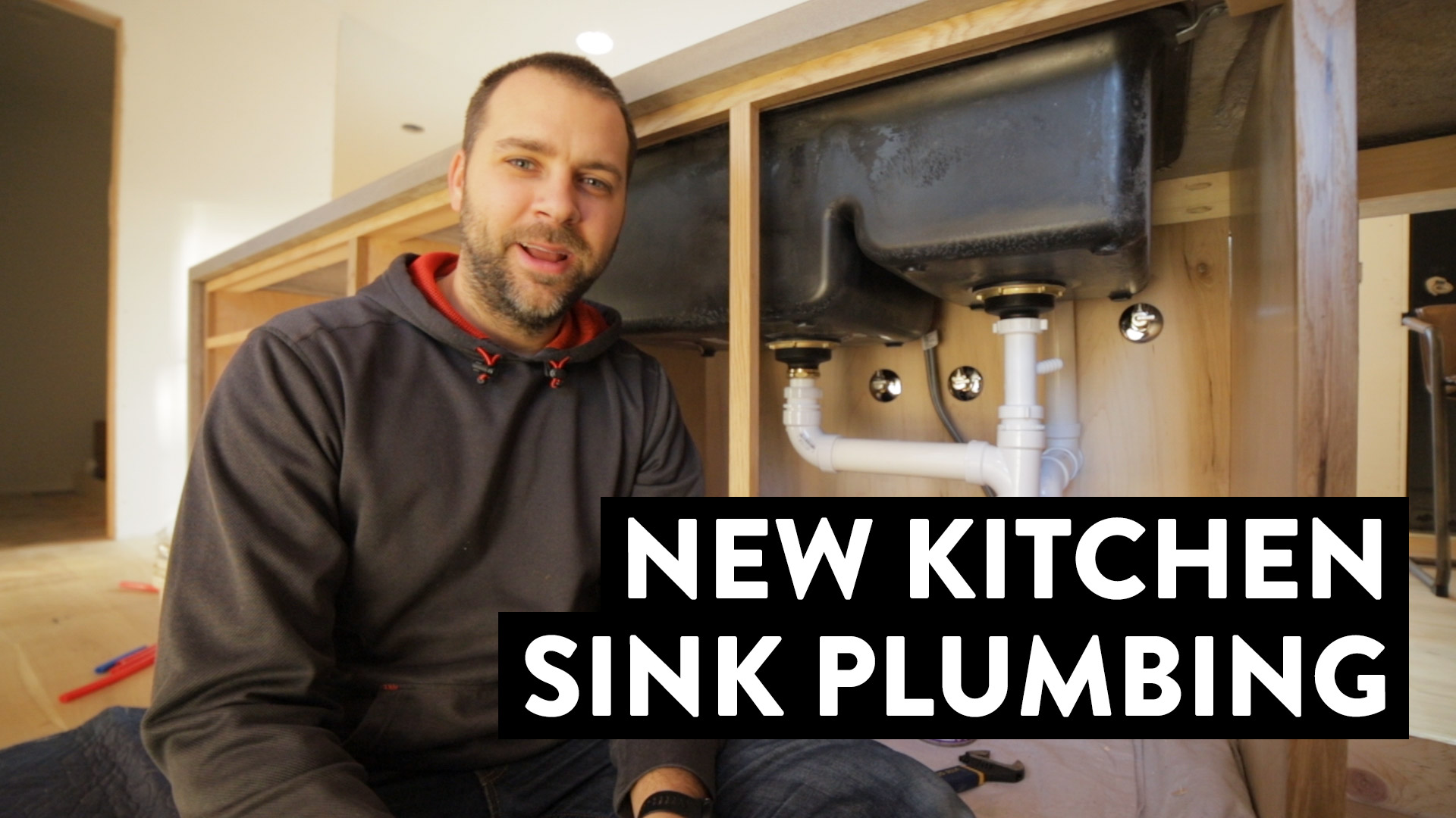 Installing A New Kitchen Sink Drain And Dishwasher In My Island | DIY PVC Plumbing